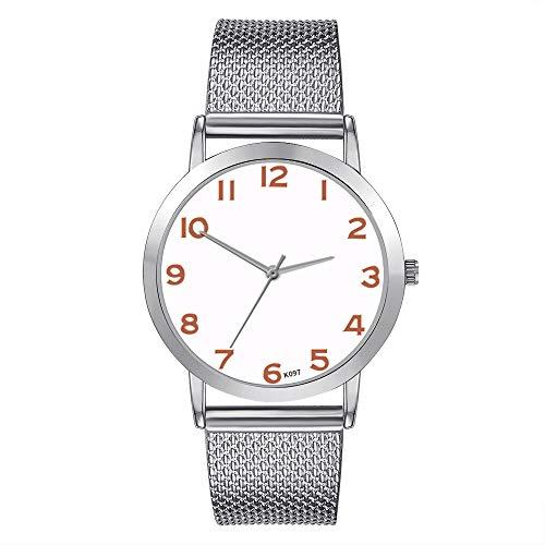 TianWlio Armbanduhren Damen Mode Luxus Freizeit Set Auger Leder Armbanduhren Edelstahl Quarz Uhr