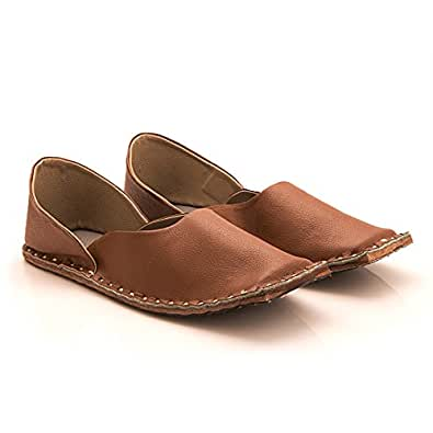 Ridhi Sidhi Men's Brown Leather Juti