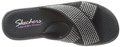 Skechers - Rumblersmetal Mama, Pantofole Donna Nero (blk)