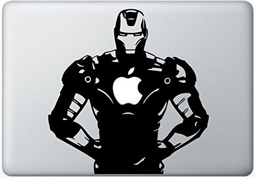 Elton Iron Man Apple Mac-book Air 13 inch 3M Skin with Apple logo cut