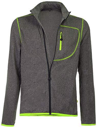 Medico Herren Ski Shirt Jacket Sportjacke Funktionsjacke Grau Melange Grün XXL