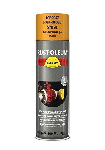 Rust-Oleum Industrial Yellow Orange RAL 2000 Hard Hat 2154 Aerosol Spray 500ml (24 Pack) Review