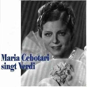 Maria Cebotari singt Verdi