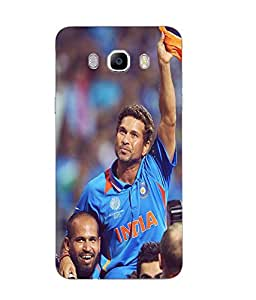 Samsung Galaxy J7 2016 Cricket Printed Blue Hard Silicon Back Cover By Snazzy