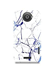 HTC One X Cover,HTC One X Case,HTC One X Back Cover,White & Blue Marble HTC One X Mobile Cover By The Shopmetro-8029
