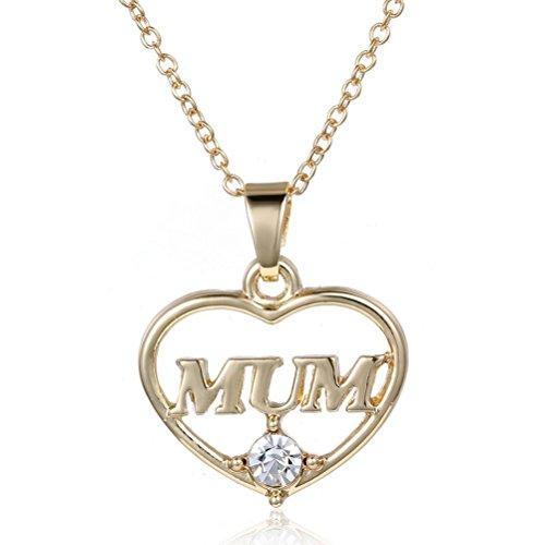 Pixnor rhinesotne ciondolo collana catena per mamma (golden)