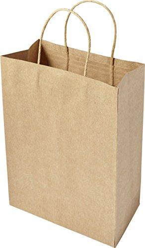 (Papiertüten 30 x 22 x 11 cm Papiertragetaschen Stück wählbar Papiertaschen braun Tragetaschen Papiertaschen aus recycelten Papier (Braun 20 Stück))