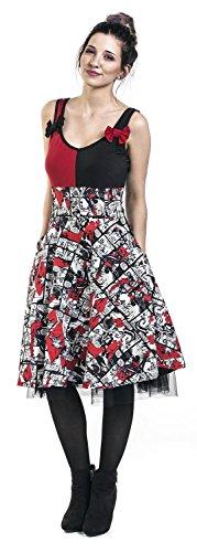 DC Comics Kleid HARLEY QUINN INSANITY DRESS Schwarz/Rot/Weiß