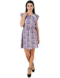American Crepe Printed Lace Dress