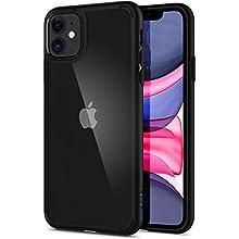 Spigen Ultra Hybrid, Designed for iPhone 11 Case, Hard PC Back Flexible Bumper Slim Protection Case for iPhone 11 (2019) - Black