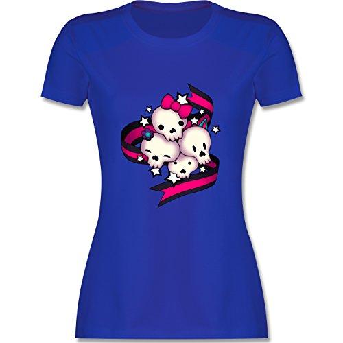 Statement Shirts - Cute Skulls - tailliertes Premium T-Shirt mit  Rundhalsausschnitt für Damen Royalblau