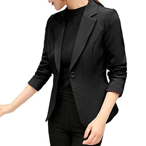 Blazer Jacke Elegant Freizeit Schlank Business Lange Hülse Büro Jacken Knopf Anzug Damen Kurz Jacke von Innerternet