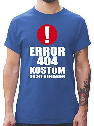 Gefunden Kostüm Nicht - Karneval & Fasching - Error 404 Kostüm Nicht gefunden - M - Royalblau - L190 - Herren T-Shirt und Männer Tshirt