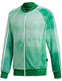 2e88e9d8cef18 Adidas Mens Pharrell Williams HU Holi SST Track Jacket - Green CW9104 (S)