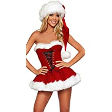 Vestiti Da Babbo Natale Per Donne.Amazon It Costumi Natale Sexy