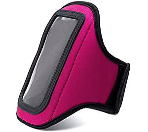 VanGoddy Magenta Neoprene Workout Sweat Resistant Exercise Armband for Spice SMART FLO PACE Mi 422