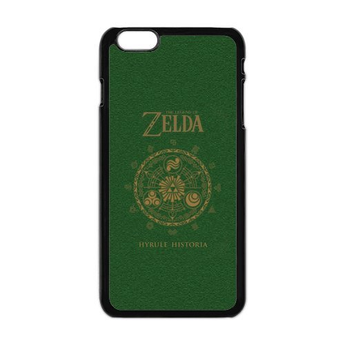 The Legend of Zelda Étui de protection en silicone et TPU Étui avec Screen Protector, Mobile Phone Case Back Cover pour Iphone 6 plus blanc noir for iPhone 6 Plus (White/Black)
