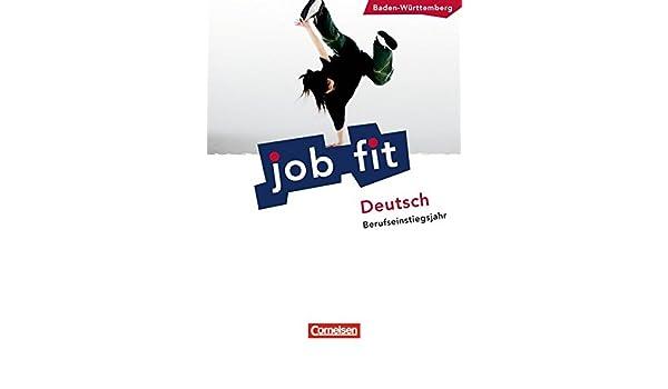 Job Fit Deutsch Baden Württembergbej Schülerbuch Mit
