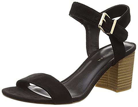 New Look Women's Paze Ankle Strap Heels, Black (Black), 4 UK 37 EU