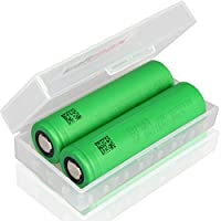 2er Pack Sony Konion US18650VTC6 18650 Akku - speziell für E-Zigaretten - Li-Ion / 3,7V / 30A / 3120mAh - US18650 VTC6 in kraftmax Box für 18650 Akkus
