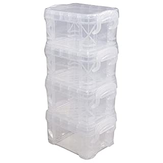 Advantus Plastic Storage Studios Super Stacker Pixie Boxes -2-inch x 2.5-inch x 3.4-inch Clear