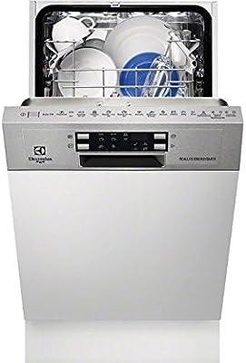 Electrolux Rex-Portero automático con lavavajillas encastrar Vista TP 9453 X acabado en acero inoxidable 45 cm, antihuellas