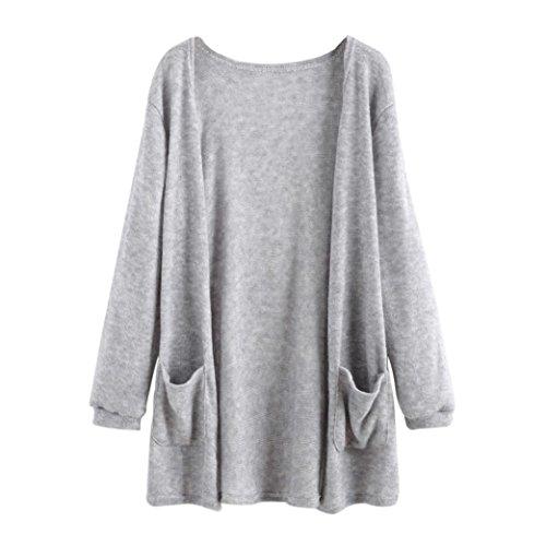 Sonnena Women Long Sleeve Tops Blouse Loose Long Cardigan Coat Jacket Outwear