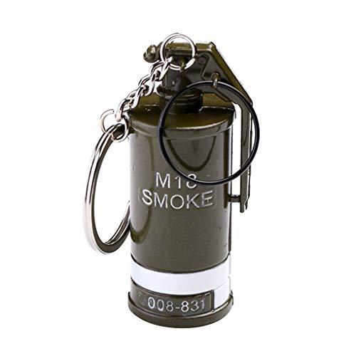 Jinzuke Smog Rauch-Bombe Granate Keychain Überlebens-Battles Gaming-Anhänger Metall-Schlüsselanhänger Schlüssel Keyfob Halter Decor