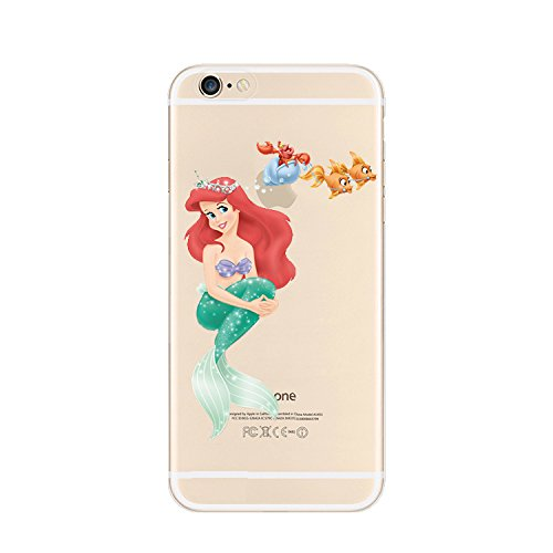 New Disney Prinzessinnen transparent TPU Soft Case für Apple iPhone 4/4S 5/5S 5C 6/6S & 6+ 6+ S * Check Sonderangebot * Ariel 1