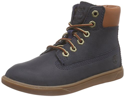 Timberland  Groveton_groveton 6in Lace With Si, Sneakers Basses mixte enfant Blau (Navy with Tan)