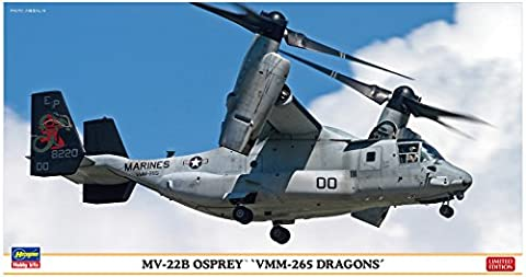 "Hasegawa ha2212Maßstab: 1: 72""mv-22b Osprey vmm-265Drachen"" Modellbau Kits"
