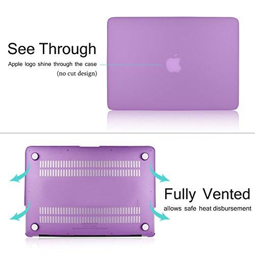 MacBook Pro 13 Retina Custodia Case, Vimay Plastica Custodia rigida per Apple MacBook Pro da 13,3 A1502/A1425 con display Retina (ULTIMA VERSIONE, NO drive CD-ROM), Viola Viola