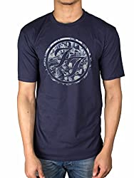 Offizielle FOO Fighters City Circle T-Shirt Sonic Highways Wasting Light Rock Eagle blau Navy L