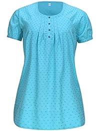 Größe 40-48 Damen Schlafanzug//Pyjama Oberteil mit Knopfleiste langer Arm