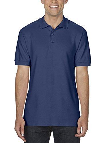 GILDAN Herren Poloshirt Adult Premium Cotton Double Piqué Polo/85800, Einfarbig Blau (Navy 32)