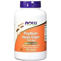 Now Foods, Psyllium bucce (Psyllium Husk Caps) x180caps 700mg con pectina di mele