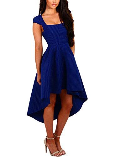 DOKOTOO Damen Kleid Blau