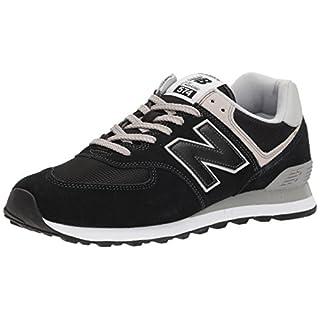 New Balance Herren Ml574E Sneaker, Schwarz (Black), 44.5 EU