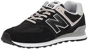 calzado: New Balance 574 Core Zapatillas Hombre, Negro (Black EGK), 47.5 EU (12.5 UK)