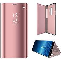 Galaxy S9 Handyhülle,ZCXG Hülle Spiegel Schutzhülle Clear View Lederhülle Protective Slim Stand Flip Cover Hülle... preisvergleich bei billige-tabletten.eu
