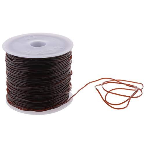 ische Stretch Threads Elastisch Faden Schmuckfaden Gummifaden für Perlenschmuck Armbänder Basteln Schmuckherstellung - Kaffee braun, 44 mm ()