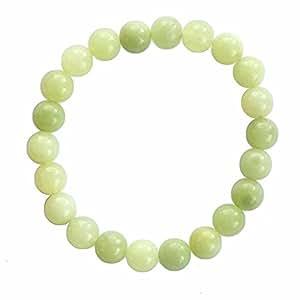 Bracelet pierre - Jade 12mm - Bijou en pierre naturelle - Perles - Vert - Uzi - Cadeau Mixte pas cher - Monorang - Mes Bijoux Bracelets