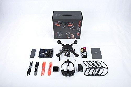 EHANG GHOSTDRONE 2.0 VR (android)FPV RC Drone Profi Quaddrocopter Drohne mit Smartphone APP Steuerung und Kamera Live Video Übertragung zur VR Brille, Professionelle Kamera Drohne inkl. 4K HD Kugel Kamera, hochpräzisem 3-Achsen Gimbal und VR Brille, 25 Min Flugdauer, Bis zu 1000m Sendebereich, schwarz/orange - 5