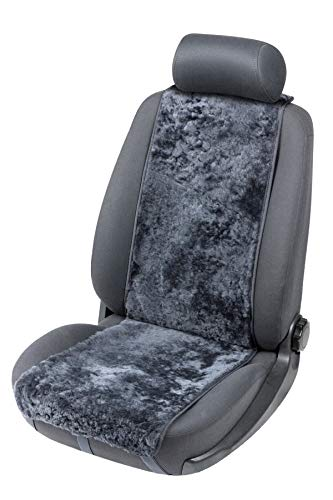 CarComfort weiche Universal Lammfell Autositz Auflage Cosmo anthrazit, kühlt im Sommer, wärmt im Winter, 12-14 mm Fell Höhe
