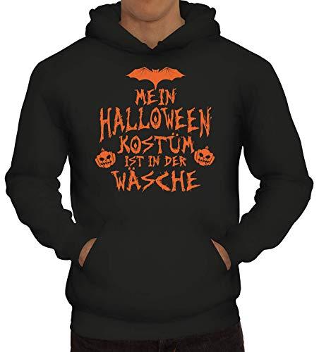 ShirtStreet Grusel Gruppen Herren Hoodie Männer Kapuzenpullover Mein Halloween Kostüm ist in der Wäsche 3, Größe: XL,Schwarz