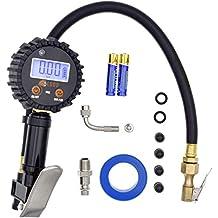 90f2ca4dbf2824 LODD Manomètre numérique, Pistolet de gonflage et de contrôle, jauge de  Pression des pneus