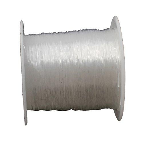 Faden SILIKON SCHMUCKFADEN 0,8mm Transparent 10 Meter Crystal Thread Gummifaden für Perlenschmuck Armbänder Basteln Beading Thread Handwerk Schmuck Armband Herstellung Schnur C117