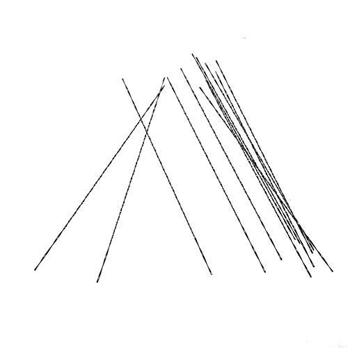 12 pièces lames de scie à chantourner avec dents spirale en métal pour bois Plastique Coupe scier Carve Compatible avec la plupart des principaux Scie marques