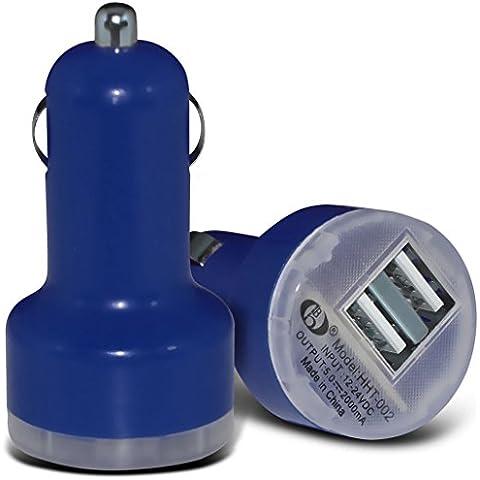 (Dark Blue) LG G6 Caricabatteria da auto Dual USB di ricarica Port 2.1 Amp ricarica USB della pallottola da Fone-Case