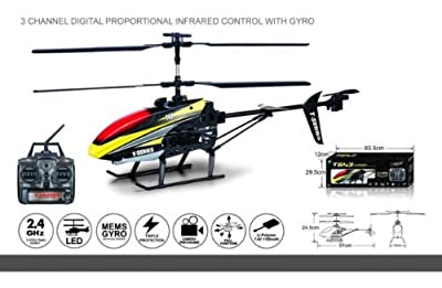 s Idea® 01137 T43 MJX Helicopter 2.4G 3.5-Channel RC Remote Controlled Helicopter Rc Helicopter Helicopter with Gyroscope Technology Brand New, for Indoors and Outdoors with Built-in Gyro Ready To Fly.